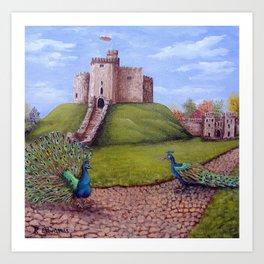 Cardiff Castle Keep Art Print