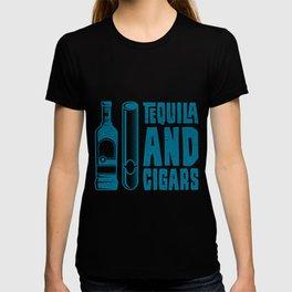 CIGAR AND TEQUILA Cigar Aficionado Gift Cigar Smoker T-shirt
