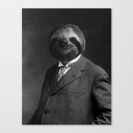 Gentleman Sloth 8# Canvas Print