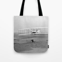 Wright Brothers First flight Kitty Hawk North Carolina December 17 1903 Tote Bag