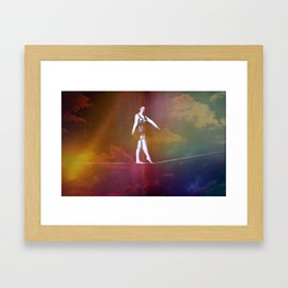 Tight Rope Framed Art Print