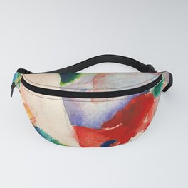 12,000pixel-500dpi - August Macke - Picnic On The Beach - Digital Remastered Edition Fanny Pack
