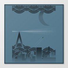 une nuit à paris (blue version) Canvas Print