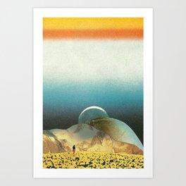Lei lassù nel chiasmo cosmico Art Print