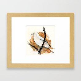 Watching the Sky Bird Framed Art Print