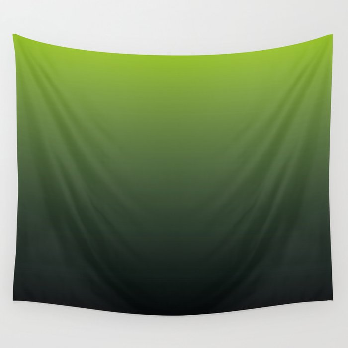 Ombre   Lime Green and Charcoal Grey Wall Tapestry