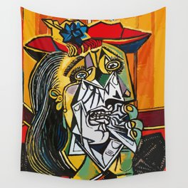 Pablo Picasso Crying Woman 1937 Artwork Shirt, Reproduction Wall Tapestry