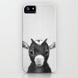 Baby Goat - Black & White iPhone Case