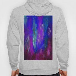 Midnight Flower Garden In Shades of Deep Blue, Violet, Purple and Pink Hoody
