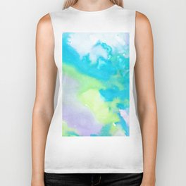 watercolor monsters Biker Tank