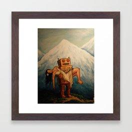 Robot Dream 3 Framed Art Print