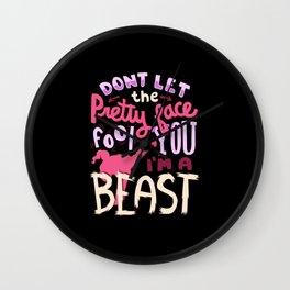 I'm a Beast - Karate Wall Clock