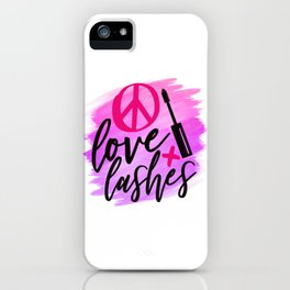 Peace Love Lashes iPhone Case