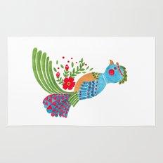 The Blue Quetzal Rug