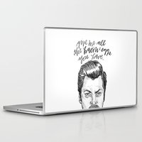 parks and rec Laptop & iPad Skins featuring Ron Swanson. [Parks and Recreation] by Jillian Kaye