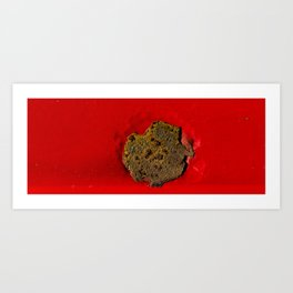 Rust on Red Art Print