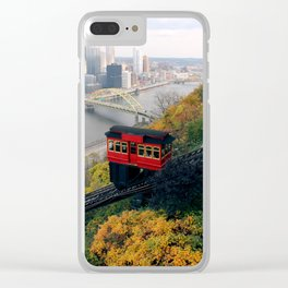 An Autumn Day on the Duquesne Incline in Pittsburgh, Pennsylvania Clear iPhone Case