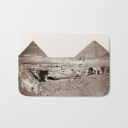 The Great Sphinx and Pyramids - 1867 Bath Mat