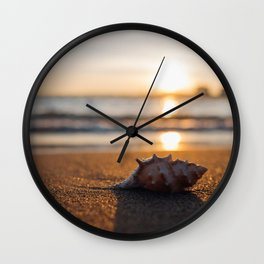 Seashore Seashell Wall Clock