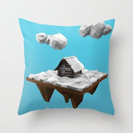 lowpoly winter Throw Pillow
