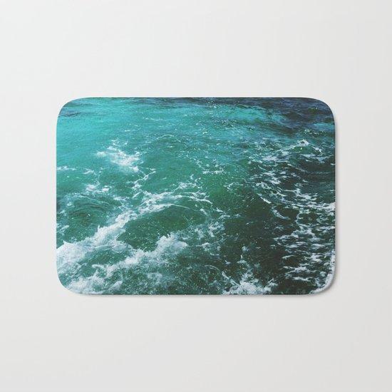 Ocean waves, Dominican republic Bath Mat