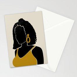 Black Hair No. 11 Stationery Cards