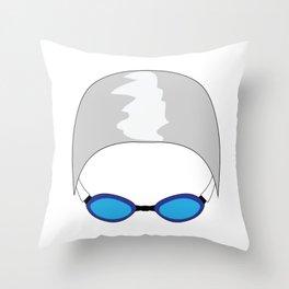 Swim Cap and Goggles Throw Pillow