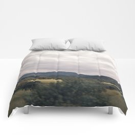 Cypress mountains and forests Comforters