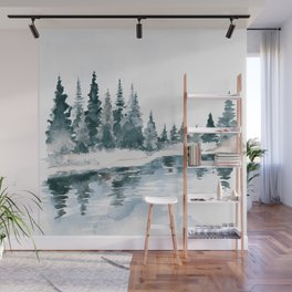 Mountain River Wall Mural