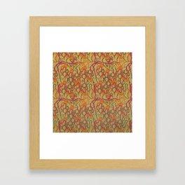 Wave interlude Framed Art Print