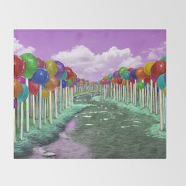Lollipop Lane Throw Blanket