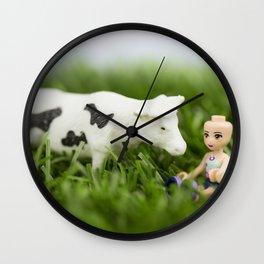 Baldy & Cow Wall Clock