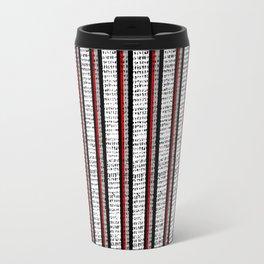 Distressed Pinstripe Pattern Travel Mug