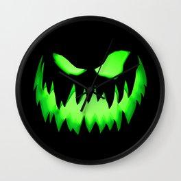 Evil Green ghost Wall Clock