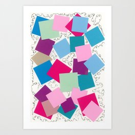 Squares and Squiggles Art Print