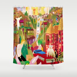 Playboys and Geishas in Old Los Angeles Shower Curtain