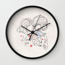 Couple Love Wall Clock