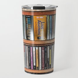 CD's on a Shelf Travel Mug