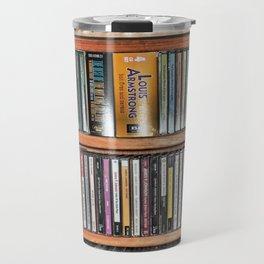 CD's on a Shelf Travel Mug