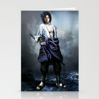 sasuke Stationery Cards featuring Sasuke real style portrait by Shibuz4