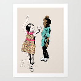 Dancing Kids Art Print