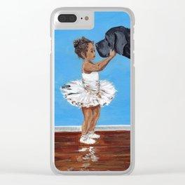 Ballerina Buddy Clear iPhone Case