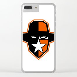 Cowboy Outlaw Star Icon Clear iPhone Case