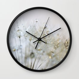 Gold and Silver Dandelion Wall Clock