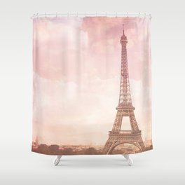 Paris in Pink Shower Curtain