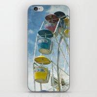 ferris wheel iPhone & iPod Skins featuring Ferris Wheel by Mary Kilbreath
