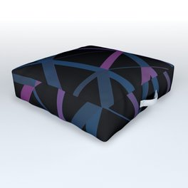 3D Futuristic GEO Lines Outdoor Floor Cushion