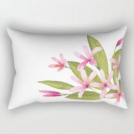Tropical Pink Plumeria Rectangular Pillow
