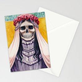 Santa Muerte As The Bride Stationery Cards
