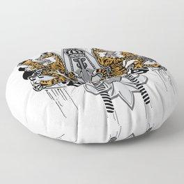 """""""Detroit Nouveau; Coat of Arms"""" Floor Pillow"""